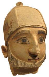 Cypriot Archaic, head of a man